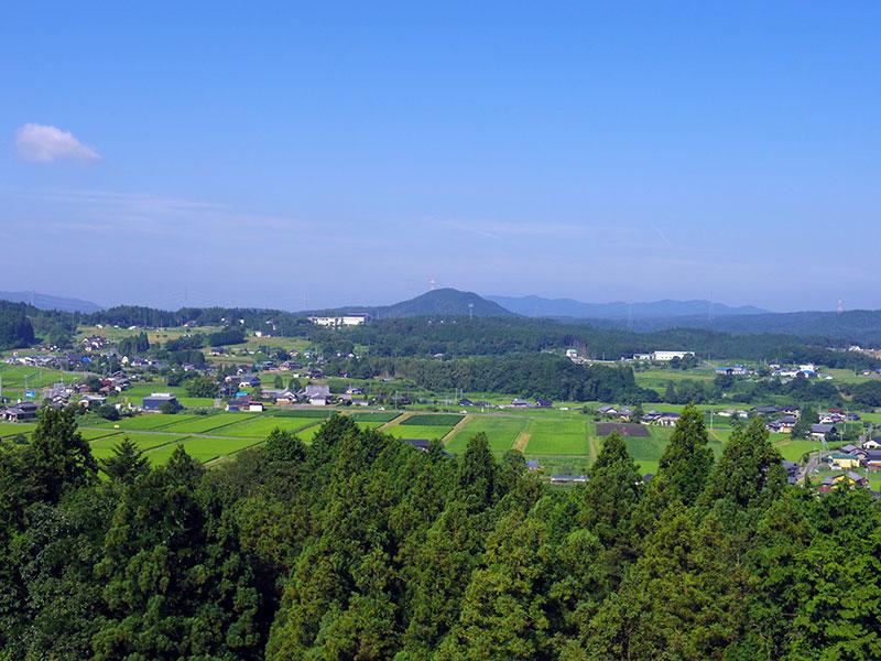 農村景観日本一展望台・恵那市岩村町富田